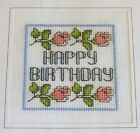 Floral Cross Stitch Card Kit (Birthday) 14 count aida