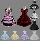 Halloween Lolita Vintage Party Dress Cosplay Costume Customized Size Multi Color