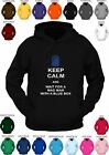 DR WHO **KEEP CALM AND WAIT FOR A MADMAN... ** custom printed hoody