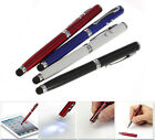 NW 4in1 LED Laser Pointer Torch Touch Screen Stylus Ball Pen for iPhone 4 5 iPad