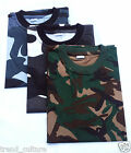 MENS WOMENS UNISEX CAMO MILITARY CAMOUFLAGE COMBAT STYLE ARMY CASUAL T-SHIRT NEW