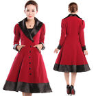 Red Veronica Coat Jacket Gothic Goth Steampunk Burlesque 50's