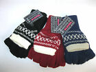 LADIES FINGERLESS WINTER  MITTENS/GLOVES -ONE SIZE- RJM ACCESSORIES-GL135