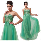 Sexy Bridal Formal Ballgown Bridesmaid Cocktail Evening Prom Dress Green Sz 6-20