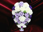 WEDDING FLOWERS CADBURYS PURPLE & LILAC BRIDES BOUQUET BRIDESMAID FLOWER GIRL