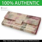 [OMNIA]Crystal Korea Ladies Checkbook Genuine Leather Purse Pink Wallet-KR366L