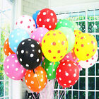 "Polka Dot Latex Round Balloons 12"" Wedding Party Helium Printed Gift Decoration"