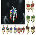 1Pair Charm fashion peacock hanging earrings, phoenix Chandelier Dangle Earrings