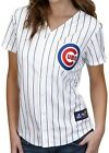 Chicago Cubs MLB Women's Majestic Home White Replica Baseball Jersey Plus Sizes