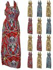 New Womens Faux Halter Paisely Design Long Formal Party Hot Fashion Summer Dress