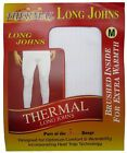 2 PAIRS MENS THERMAL LONG JOHNS BRUSHED WITH HEAT TRAP UNDERWEAR IN 3 COLOURS
