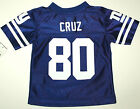 Nwt New York Giants NY Jersey NFL Team Football Victor Cruz 80 Blue White Kids