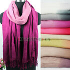 Gradient Pashmina Casual  Warm Scarf Wrap Shawl Tassel Oblong Stole Neckerchief