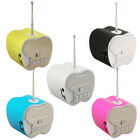 Mini Portable TF/Micro SD USB Disk LED Stereo Speaker FM Radio Music MP3 Player