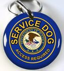 Service Dog ADA Department of Justice blue custom tag dog ID