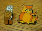 Owl Collectable pin badges. Choice of 2 styles