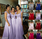 Sexy Sweetheart Cap Sleeve Chiffon Long Formal Evening Gowns Bridesmaid Dreeses