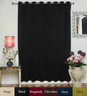 Wide Width Antique Brass Grommet Top Blackout Curtain 100 Inch by 120 Inch Panel