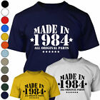 MADE IN 1984 - ALL ORIGINAL PARTS Mens 30th Birthday / Christmas T Shirt Gift