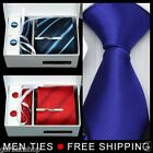 Mens Man Jacquard Tie Hanky and Cufflinks Necktie Set Gift Box
