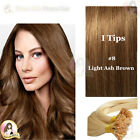 "17"" DIY kit Indian Remy Human Hair I tips/micro beads  Extensions  AAA GRADE #8"
