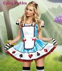 Blue Alice Girl Playing Card Dress Fairytale Fancy Dress Halloween Costume
