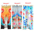 Hot Girls Mermaid Princess Print Leggings Kids Pants Ariel Child Outfit Printed