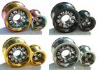 Anodized Steel Screw Double Flare Ear Tunnel Plug Crystal 4 Colours 8mm - 20mm