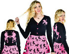 Too Fast Cropped Cardigan Unicorn Carousel Pin Up Pink Black Gothic Goth