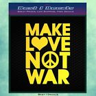 Making Love Not Fighting Bumperstick Window Decal Sticker Military Army Marine