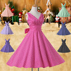 XMAS Vintage Swing 50s 60s Housewife pinup Rockabilly Evening Party Prom Dresses
