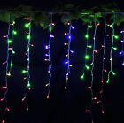 3.5M/11.5ft 96LEDs Icicle Curtain String Lights for Christmas Wedding Party Dec