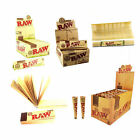 RAW Rolling Papers King Size Slim, Connoisseur, & Roach Tips, Organic Hemp, Cone