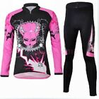 Chain Cycling Bike Women Winter Suit Bicycle Long Sleeve Clothing Jersey + Pants