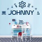 Personalised Name Wall Art Sticker - Science, Scientist, DNA Lab, Microscope, Ch