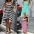 Celeb Style Stripe Cotton Beach Bikini Cover Up Dress Swimwear AU SELLER sw015