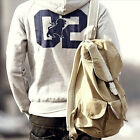 Vintage Mens Military Casual Canvas Backpack bookbag Rucksack Hiking Bag Satchel