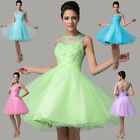 Tulle Lace Short Sweetheart Bridesmaid Gown Evening Party Prom Dresses Size 6~20