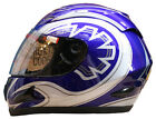 LEOPARD LEO-818 Scooter Motorcycle Motorbike Helmet Road Legal Blue Graphic