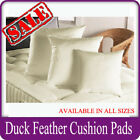 Duck Feather Well Filled Cushion Pads Inserts Inners 16 18 20 22 24 Inch Sizes