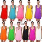 Casual Womens Coloured Beachwear Summer Dress Bikini Cover Up  AU SELLER sw034