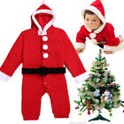 Baby Girls Boys Toddler Winter Santa Suit Christmas Costume Outfit 0-2Y Clothes