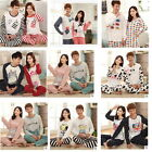 Women /Men Long-sleeved Lovely Couple Pajamas Tracksuit Suit Home Wear