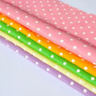 Felt Wool Mix 12 inch / 30cm Squares - Polka Dot - Pack of 5 Squares FREE UK P&P