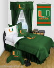 Miami Hurricanes Comforter with Sheet Set Twin Full Queen Sizes