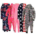 Childrens Onesie Various Designs All In One Warm Soft Fleece Ages 3-10