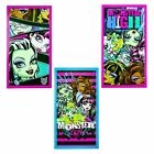 MONSTER HIGH PRINTED VELOUR BEACH/BATH TOWEL 70CM X 140CM BRAND NEW