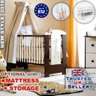 LUXURY BABY COT WOODEN  BED  SAFARI COLLECTION - GIRAFFE + MATTRESS SELECTION