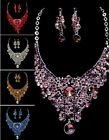 CHEAP SALE SHINY Jewelry EVENING Party Swarovski Crystal Earrings Necklace Sets