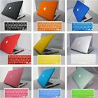 "11Color Frosted Rubberized Hard Case Keyboard Cover for Macbook PRO 15""inch 2in1"